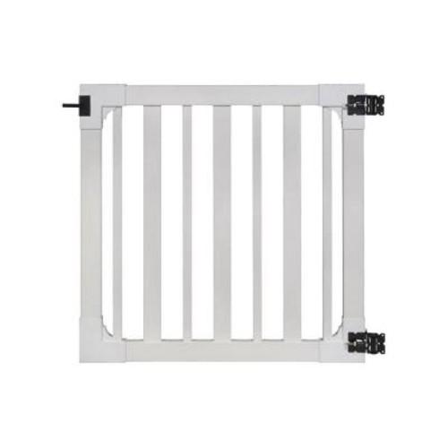 WamBam Fence 4 ft. x 4 ft. Sturbridge Vinyl Yard and Pool Fence Gate with Stainless Steel Hardware