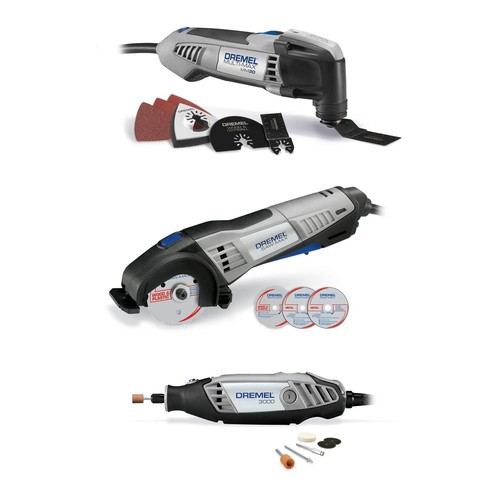Dremel Ultimate Corded 3-Tool Combo Kit with 15 Accessories and Carrying Bag