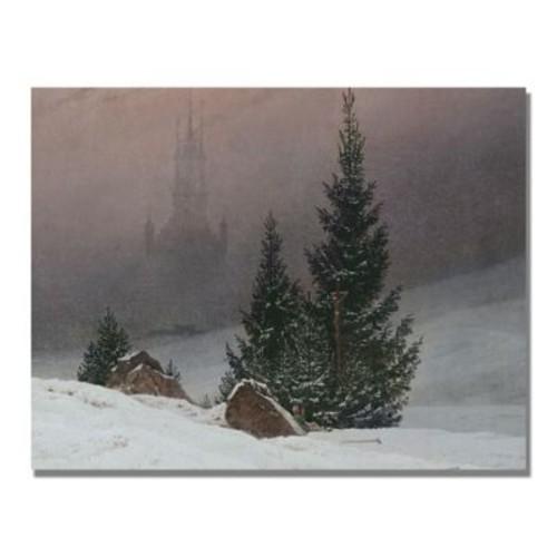 Trademark Fine Art Caspar Friedrich 'Winter Landscape' Canvas Art 24x32 Inches