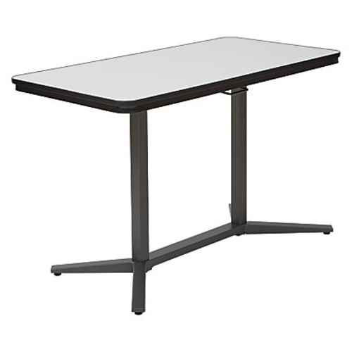 Office Star Pro Line II Dry-Erase Pneumatic Height Adjustable Table, White/Titanium