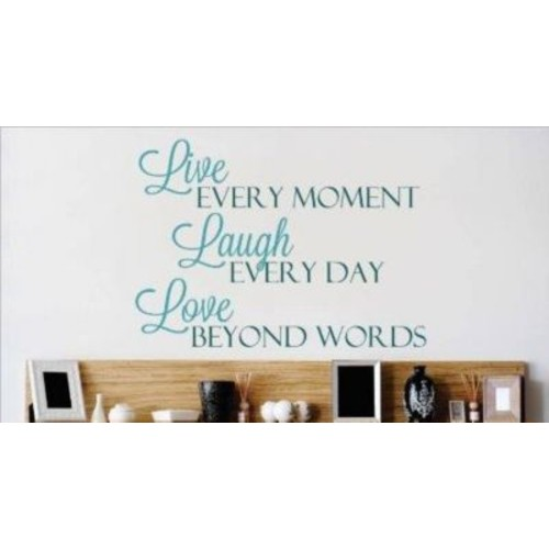 Design With Vinyl Live Every Moment Wall Decal