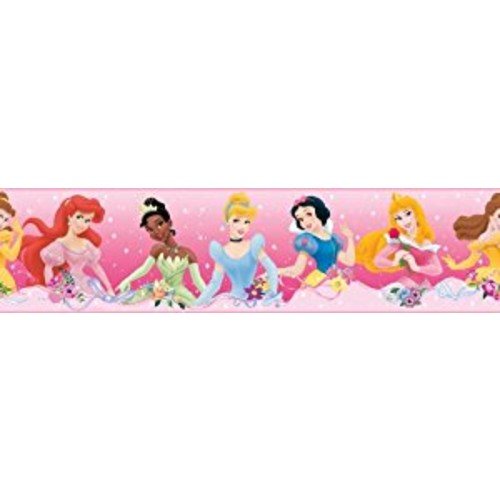 Roommates Rmk1526Bcs Disney Princess Dream From The Heart Pink Peel & Stick Border [Pink Border]
