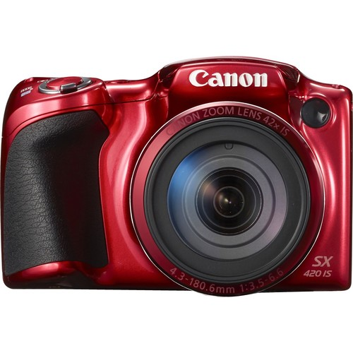 Canon - PowerShot SX420IS 20.0-Megapixel Digital Camera - Red