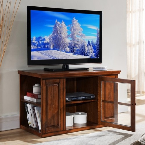 KD Furnishings Coffee, Console, Sofa & End Tables Oak 42-inch Bookcase TV Stand & Media Console