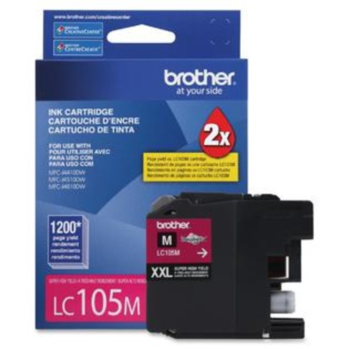 Brother Innobella LC105M Ink Cartridge - Inkjet - High Yield - 1200 Page - 1 Each - TD