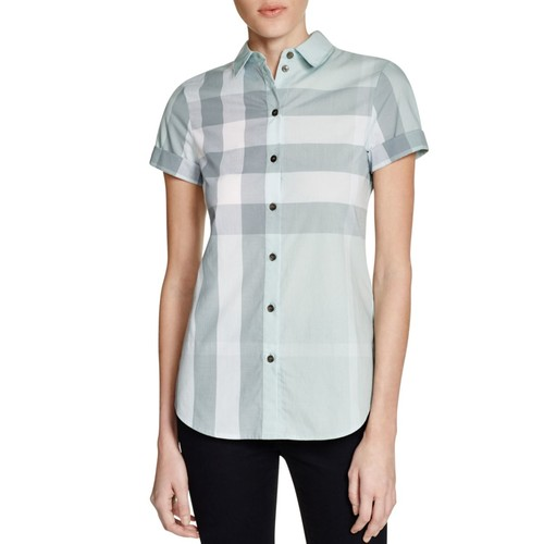BURBERRY Check Button Down Shirt
