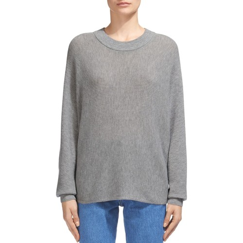 WHISTLES Horizontal Ribbed-Knit Wool-Cashmere Sweater