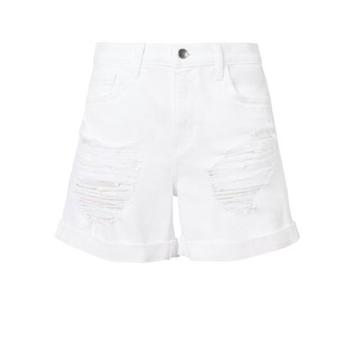L'AGENCE Balboa Double-Rolled Denim Shorts