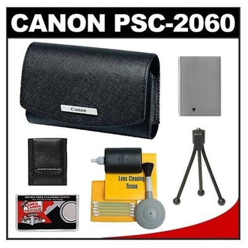 Canon Leather Digital Camera Case + Battery + Tripod Kit for SD790 IS, SD870 IS, SD880 IS, SD970 IS - 4855B001-55347-Kit