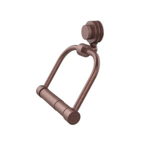 Allied Brass Venus Collection Single Post Toilet Paper Holder with Dotted Accents in Antique Copper