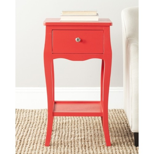 Safavieh Coffee, Console, Sofa & End Tables Safavieh Thelma Hot Red End Table