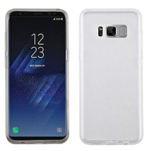 Insten Glossy TPU Rubber Candy Skin Back Gel Shell Case Cover For Samsung Galaxy S8 - Clear