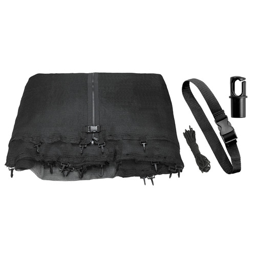 Upper Bounce Trampoline Replacement Enclosure Net, Fits For 11 FT. Round Frames, Works with multiple amount of poles - Pole Caps Included
