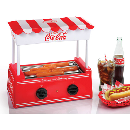 Nostalgia HDR565COKE Coca-Cola Hot Dog Roller and Bun Warmer [Red, One Size]
