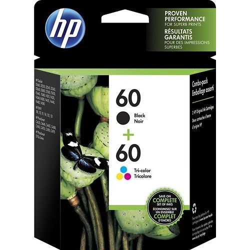 HP - 60 2-Pack Ink Cartridges - Black/Tricolor