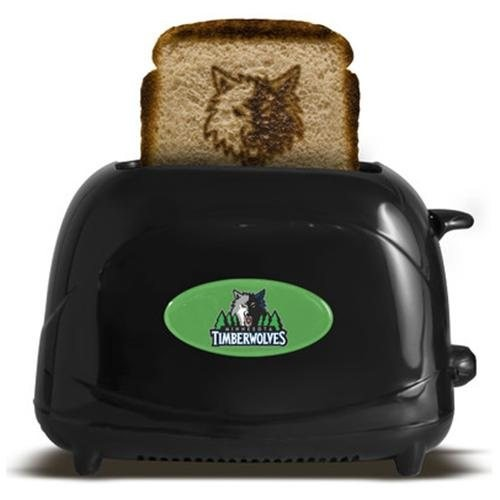 NBA ProToast Elite Toaster, Minnesota Timberwolves, Toasters, 2-Slice, Cool Touch Exterior, Black