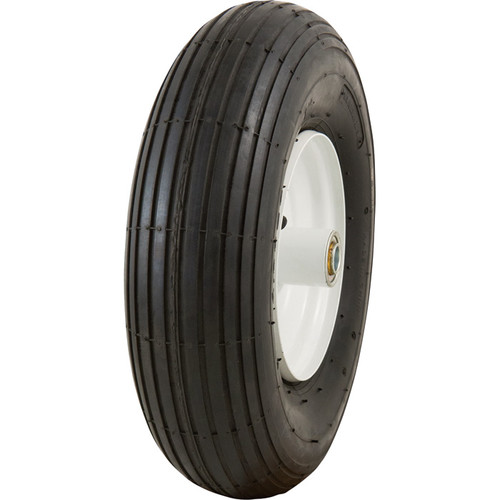 Marathon Tires Pneumatic Wheelbarrow Tire  5/8in. Bore, 4.006in.