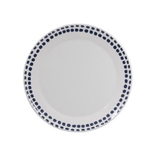 Melamine Polka Dot Dinner Plate 10.5