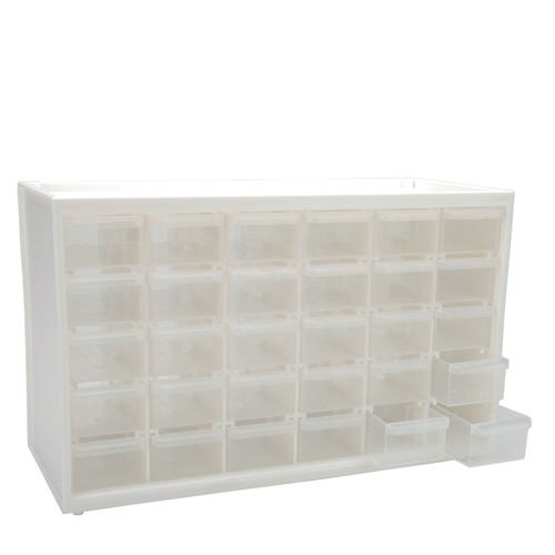 ArtBin Store-In-Drawer 30-Drawer Translucent Cabinet