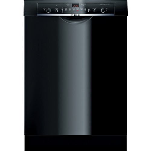 SHE3AR76UC Ascenta 24 Wide Full Console Built-In Dishwasher with 6 Wash Cycles Quiet 50 dBA 14 Place Settings Delay Start 24/7 Overflow Leak Protection in Black [Black]