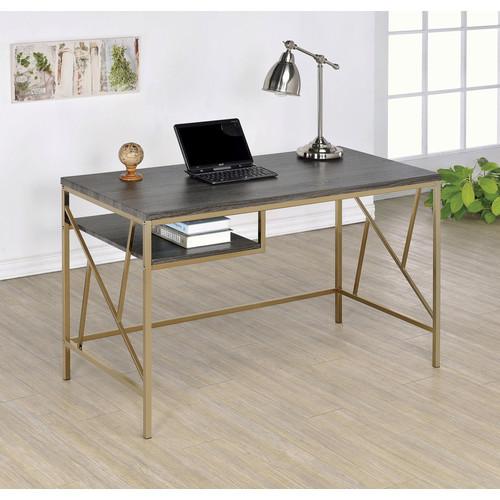 Furniture of America Kimito Contemporary Metal Desk