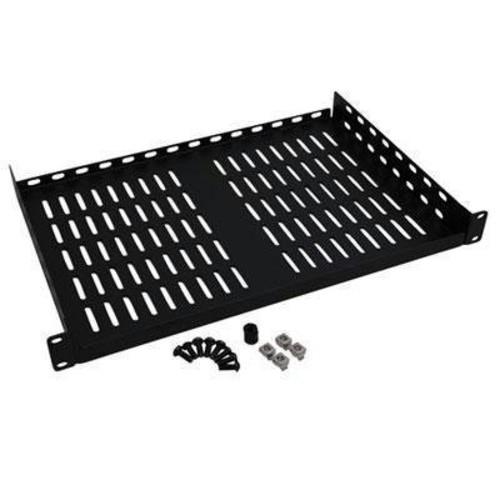 Tripp Lite Rack Enclosure Cabinet Cantilever Fixed Shelf 40lb Capacity 1URM - 1U Wide - Black - 40 lb x Maximum Weight Capacity