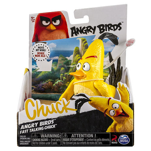 Angry Birds Action Figure - Fast Talking Chuck