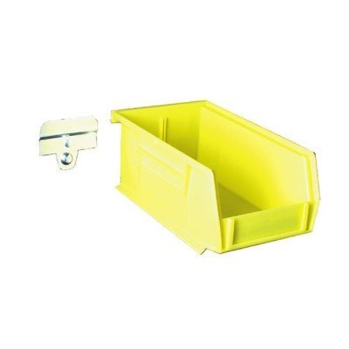 Triton Products BK-220 LocBin BinKit Hanging Bin and BinClip Kits 7-3/8-Inch L by 4-1/8-Inch W by 3-Inch H Yellow Polypropylene 24 Count