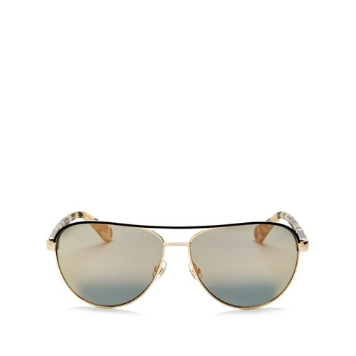 Emilyann Mirrored Aviator Sunglasses, 59mm