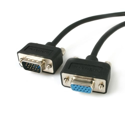 StarTech.com Coax High Res Low Profile VGA Monitor Extension Cable - HD15 M/F - 10 Feet (MXT101LP10)