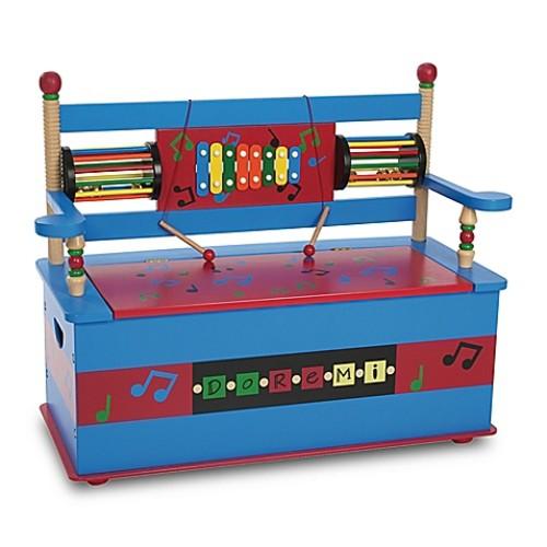 Wildkin Musical Bench Seat with Storage in Blue