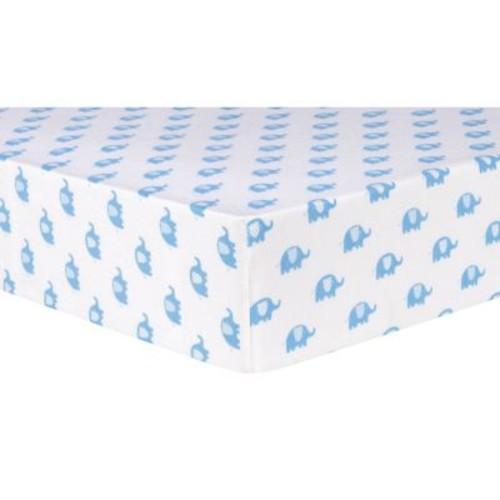 Trend Lab Safari Animal Flannel Fitted Crib Sheet