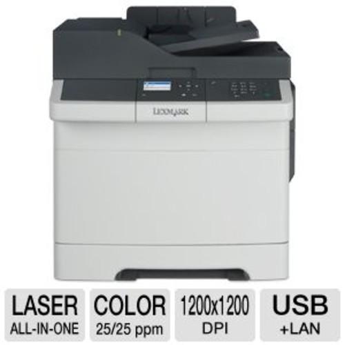 Lexmark CX310n Color Laser Multifunction Printer - 25 ppm Black & Color, 1200 x 1200 dpi, 512MB Memory, USB, Ethernet Networking, 2.4