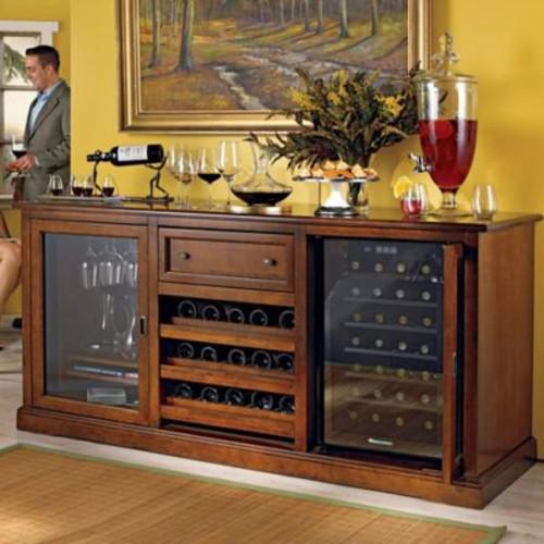 Wine Enthusiast Siena Wine Credenza in Walnut