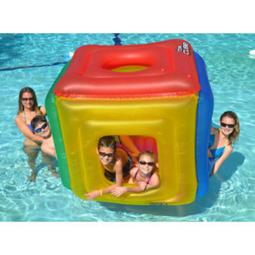 Swimline The Cube Inflatable Floating Habitat for Swimming Pool