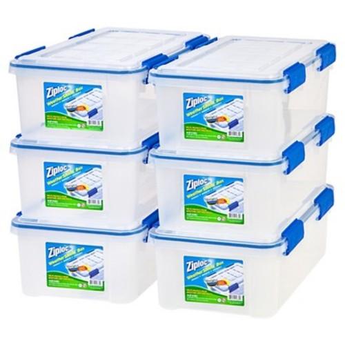 Ziploc WeatherShield 16 Qt Storage Box - 6 Pack