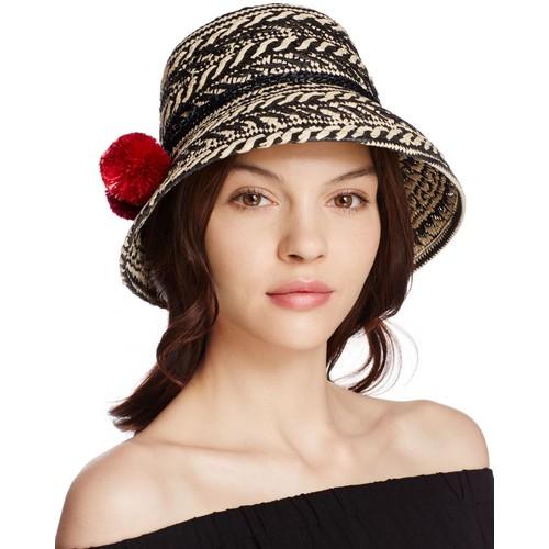 KATE SPADE NEW YORK Basket Weave Cloche Hat