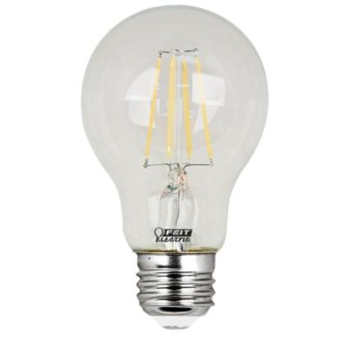 Feit Electric 40W Equivalent Soft White (2700K) A19 Filament LED Clear Glass Light Bulb (Case of 8)