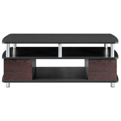 Altra Furniture 5094196 Altra Furniture Carson Coffee Table with Open Storage Cherry and Black