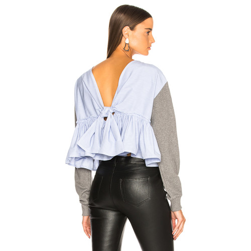 Cropped Tie Back Sweater