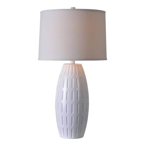 Kenroy Home Kinsley 30 in. White Table Lamp