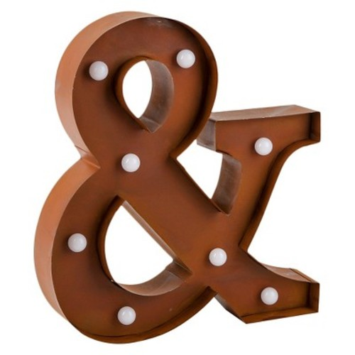 Marquee Metal Ampersand Sign - Threshold