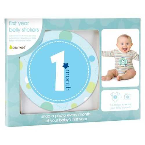 Pearhead Baby Milestone Stickers - Boy