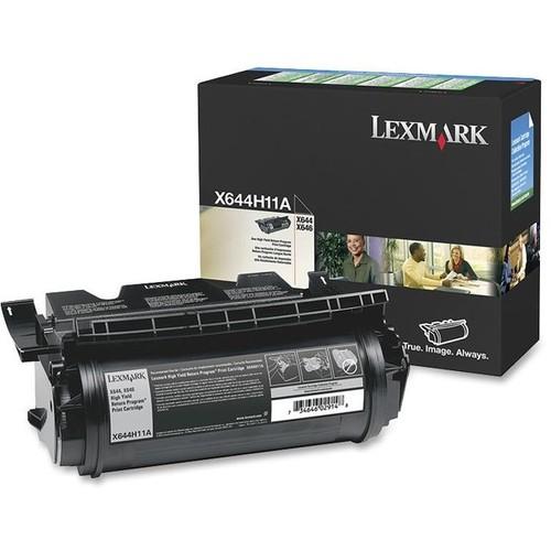 Lexmark X644H11A Black High Yield Return Program Toner Cartridge - Lexmark - X644H11A