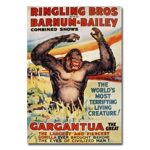 Ringling Brothers and Barnum and Bailey, 16x24-Inch Canvas Wall Art [16 by 24-Inch]