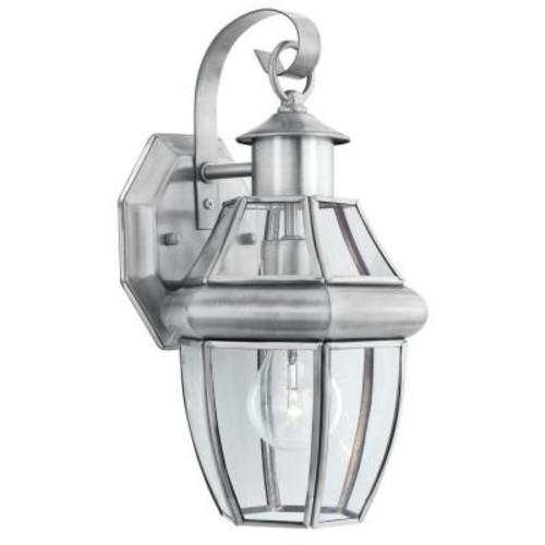 Thomas Lighting Heritage 1-Light Brushed Nickel Outdoor Wall-Mount Lantern