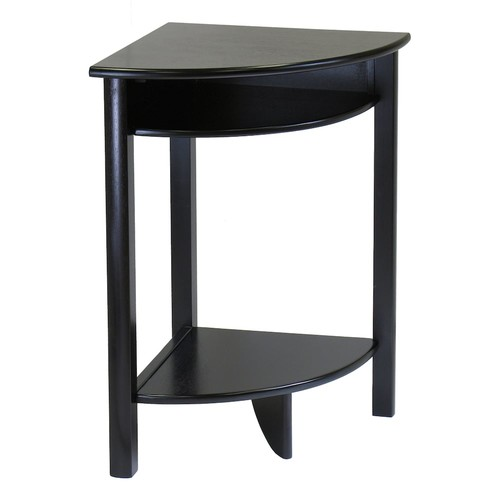 Winsome Wood Liso Corner Desk with Shelf, Espresso Finish