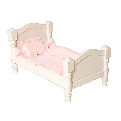 Guidecraft White Wooden Doll Bed - Fits 18