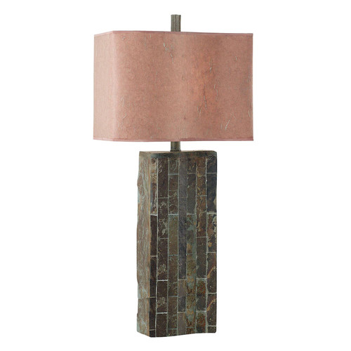Kenroy Home Ripple 32 in. Natural Slate Table Lamp