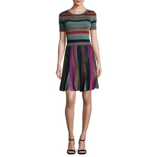 MISSONI Metallic Striped Dress